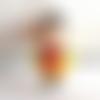Perle garçon joyeux personnage kawaïï en pâte polymère ou fimo