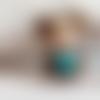 Perle personnage coeur bleu kawaïï en pâte polymère ou fimo