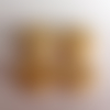 Lot n°8 de 4 boutons floraux en bois fond beige 18mm