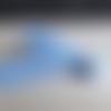 0.75 m de biais floral bleu