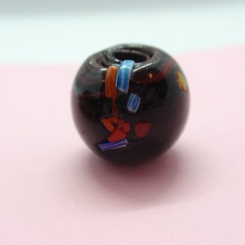 Perle artisanale ronde 14mm