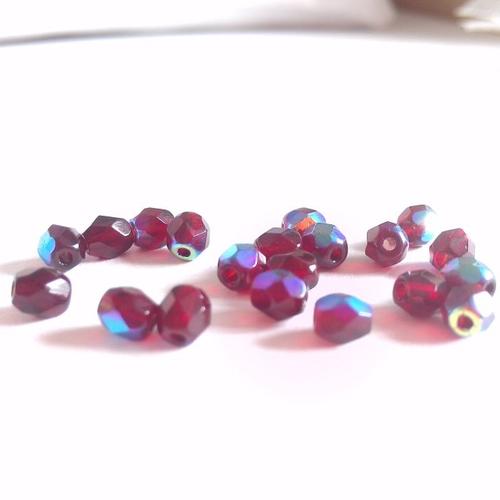 Lot de 10 perles olive à facettes 4x3mm