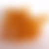 Lot de 24 perles grosses rocailles en verre 8mm