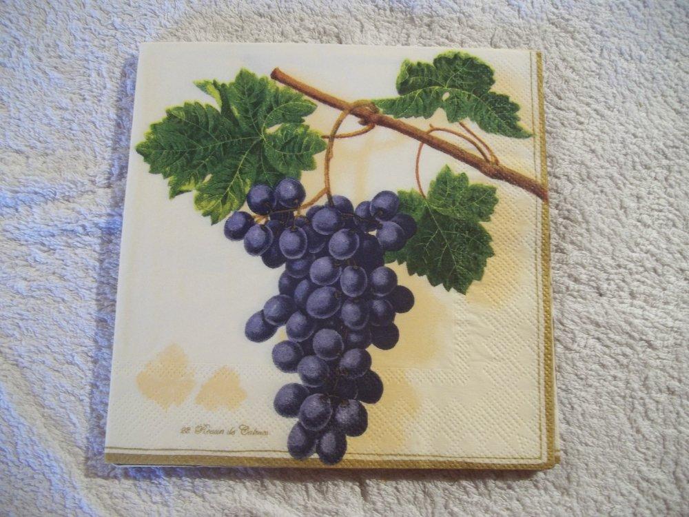 Serviette Grappe de raisins noirs