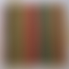 Serviette rayures vertes, rouges, or