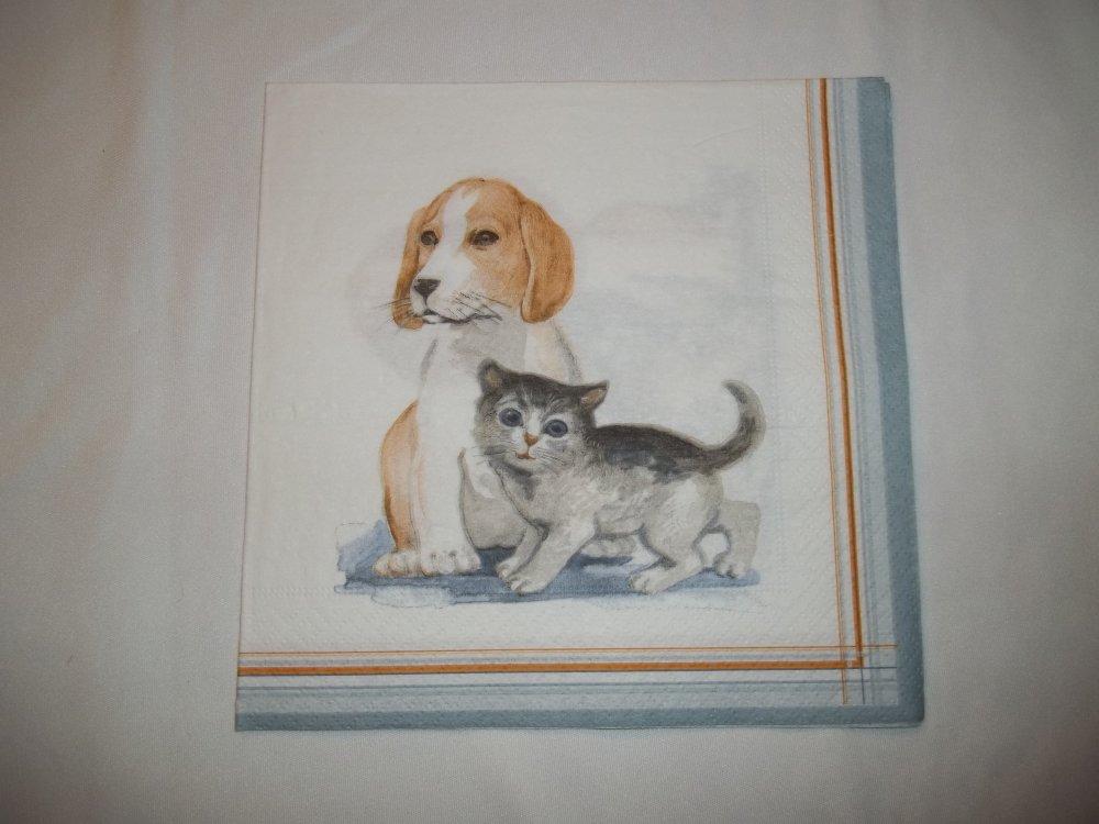 Serviette Chiot et chaton