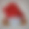 Serviette lutin sous bonnet rouge