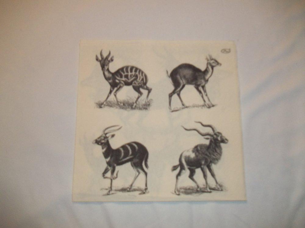 Serviette Antilopes