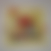 Petite serviette coquelicots, pommes et oiseaux