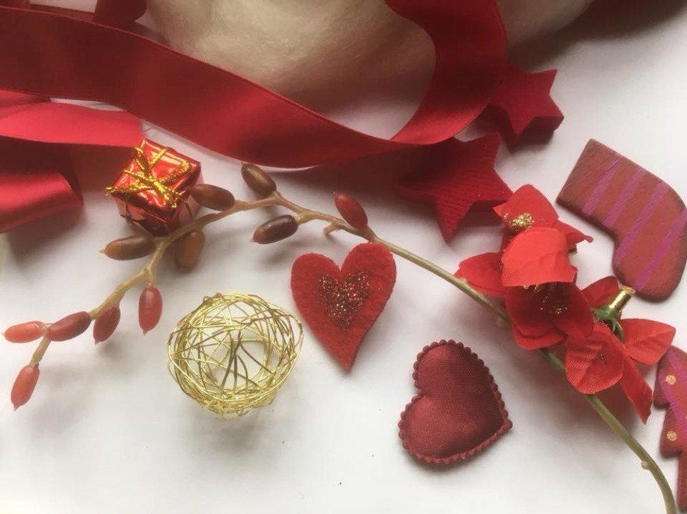 Kit de réalisation de décorations de Noël blanc et rouge