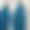 Plumes bleues accroche métal argenté moyen modèle