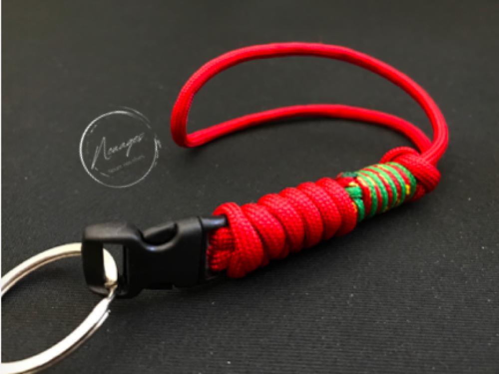 "Porte-clefs dragonne ""Red-Noël"""