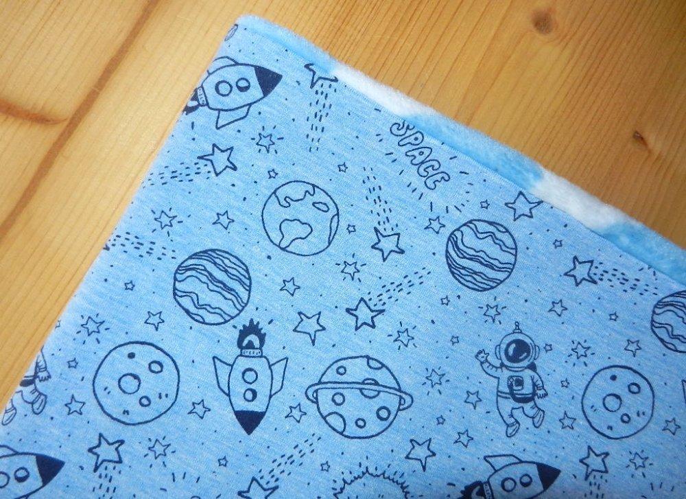 snood tour de cou enfant garçon fusée planète astronaute