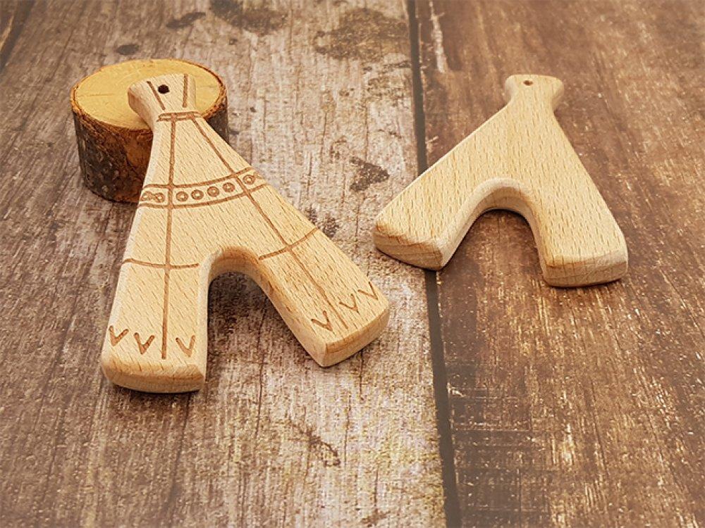 2 anneaux de dentition tipi bois de hêtre