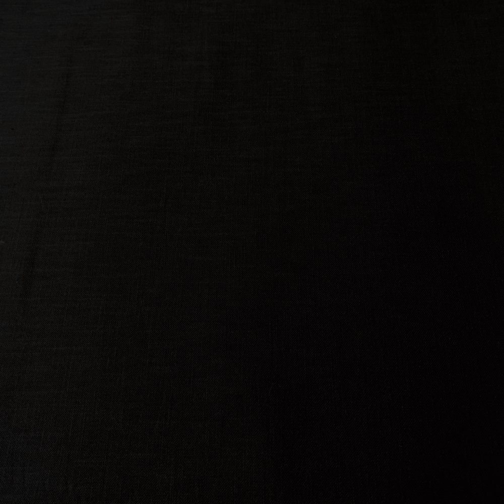 Tissu japonais, uni, noir, coton 110x50 (1001D)