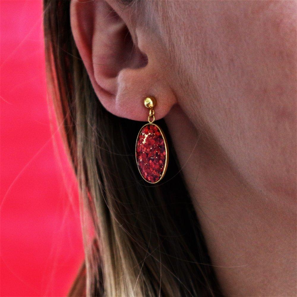 Boucles d'oreilles paillettes