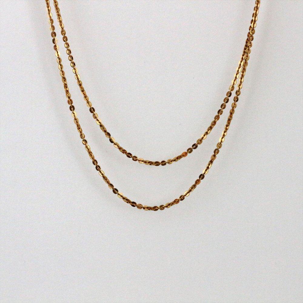 Collier fin chaîne dorée