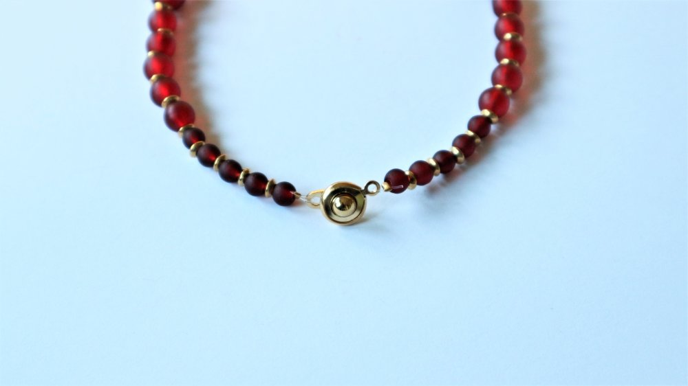 Collier Alice Rouge Doré