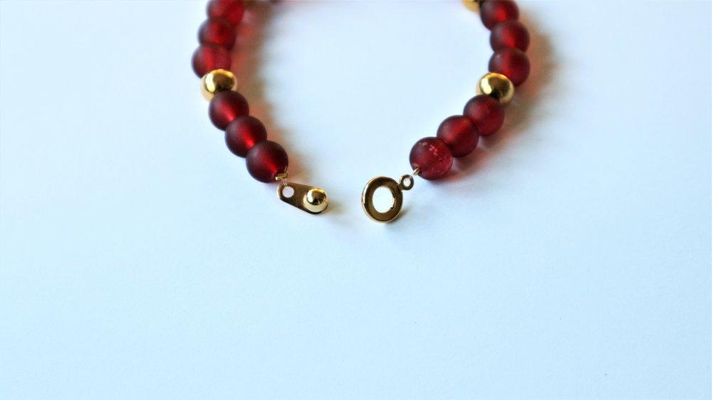 Bracelet Raphael Rouge Doré