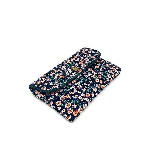 Pochette housse téléphone, housse iphone, étui smartphone, pochette femme, tissu coloré, pochette liberty, cadeau original
