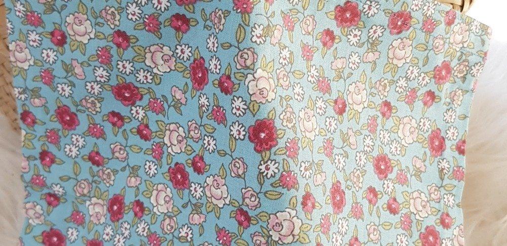 Sac tote bag enfant à fleurs roses et blanches