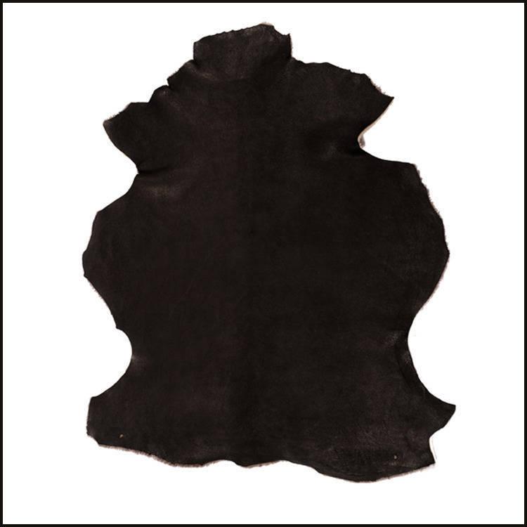 A451-P  \\ Peau d'AGNEAU  LAINÉE - JURASSIC - Noire  Anthracite //