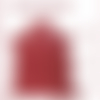 A405-s   \\ peau cuir d'agneau crispé nappa rouge  //