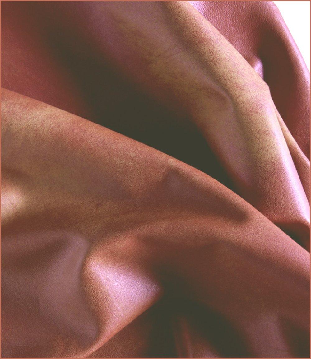 A633-P*  \\ Peau Cuir d'Agneau Nappa Orange Dark //