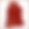 A757-p*  \\ peau cuir d'agneau volcanus imprimé rouge xl //