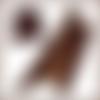 V222-p*  \\ peau cuir de veau antiqué patiné marron - xl -  //