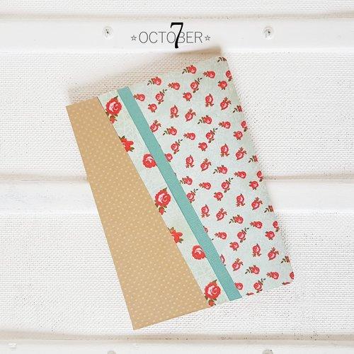 Carnet de notes format a5 ☆ rose ☆ recueil de poème, livre d'or, journal intime