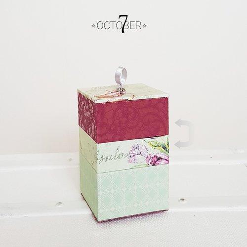 Coffret { tulipe } boite décoration, coffret à bijoux, écrin ou vide poche, coloris rose, vert d'eau et ivoire