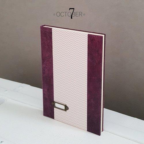 Carnet de notes ☆ zig zag ☆ recueil de poème, livre d'or ou journal intime au style romantique