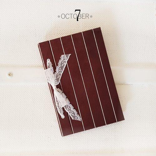 Petit carnet de poche { prune } à glisser dans son sac ou notebook pour ses pensées