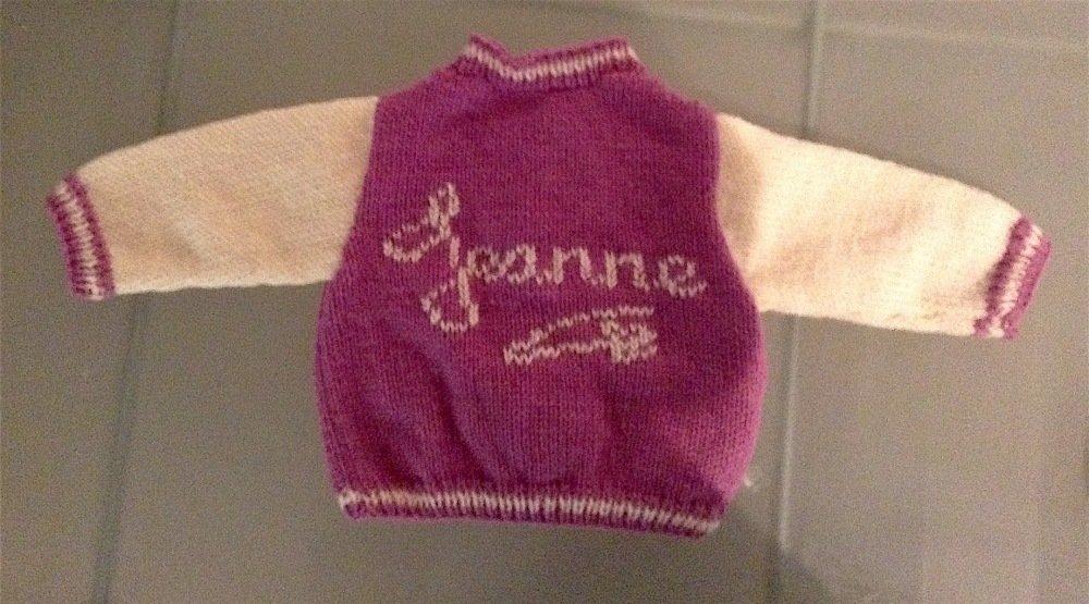 Gilet bébé * style Teddy personnalisé * tricoté main * prénom au choix