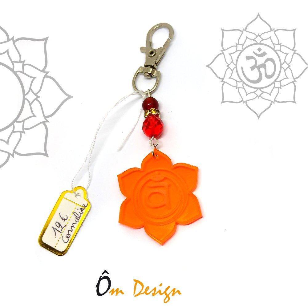 Bijoux de sac Swadhisthana *plexiglas orange et cornaline*