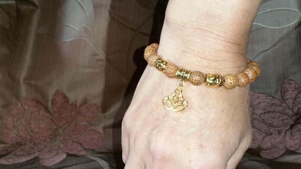 Bracelet réglable Porte-bonheur Petit poignet Gold antique