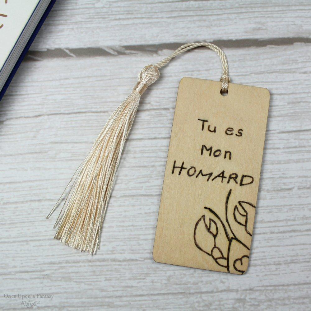 Marque-pages Tu es mon Homard en bois gravé à la main, couleur personnalisable, Friends.