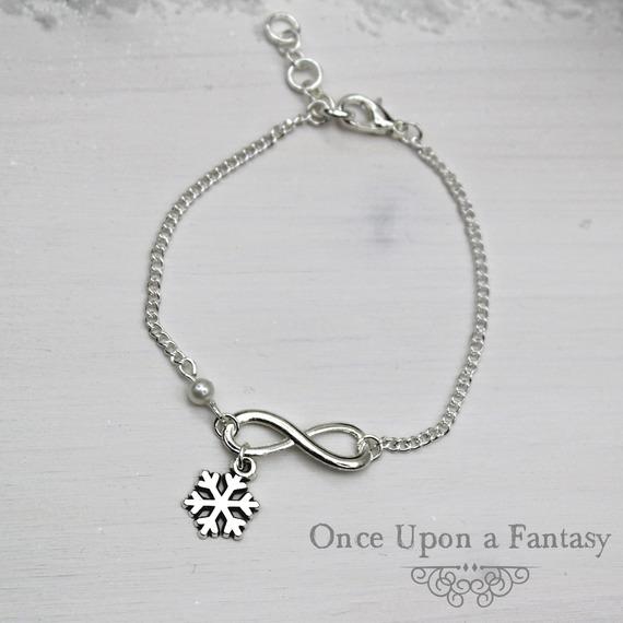 Bracelet Infini Flocon de neige - Once Upon a Fantasy