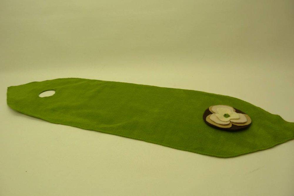 Écharpe courte pour femme en laine polaire