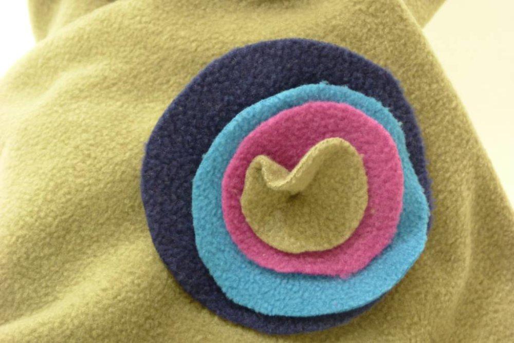 Écharpe femme en laine polaire