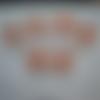 """6 verres peints """"coquelicots rouge orange et or"""""""