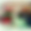 """Aquarelle carnaval de venise """"le masque rouge et vert sous le pont"""" livraison rapide"""