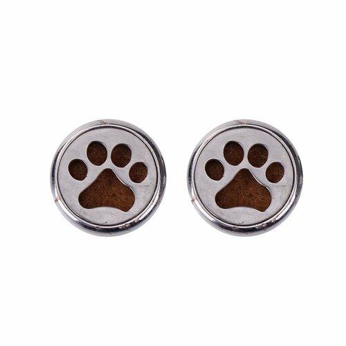 Bouton pression diffuseur d'huile essentiel pour bracelet empreinte chien