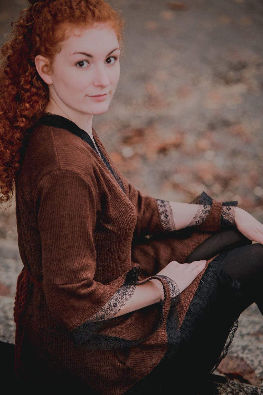 Gilet Cybèle marron