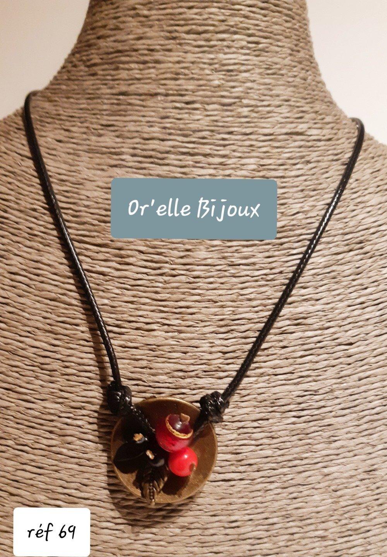 collier rouge et noir murano