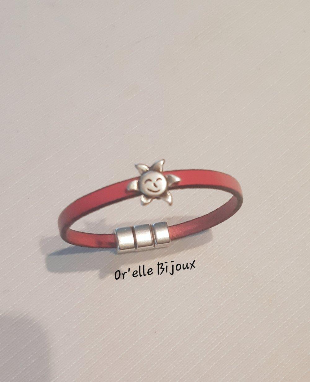 bracelet enfant cuir