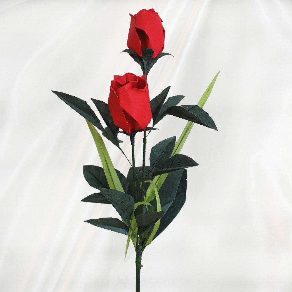 Combien De Rose Pour La St Valentin double bouton de rose de saint valentin en origami