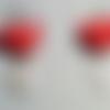 "Boucles d'oreilles "" coeur "" en origami (cor_002)"