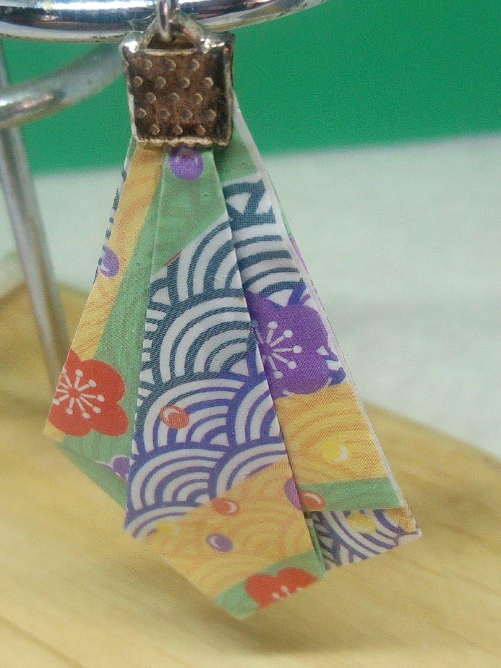 """Boucles d'oreilles """"Pointe diamant"""" en Origami (D_007)"""